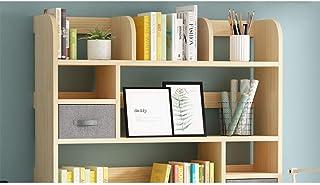 Organisateur de bureau Bibliothèque de bureau simple en bois avec tiroirs Bibliothèque de comptoir autoportante Organisate...