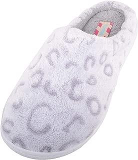 Absolute Footwear Womens Animal Print Slip On Mules/Slippers/Indoor Shoes