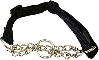 "Hamilton Adjustable Combo Choke Dog Collar, Black, X-Small, 3/8"" x 10-14"""