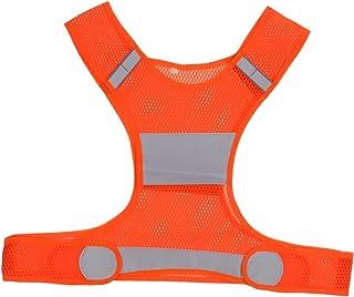 YUFENGBAIHUODIAN Sécurité réglable Haute Visibilité Reflective Veste Veste Nuit extérieure (Color : Orange)