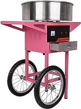 Iglobalbuy Machine à Barbe à Papa avec Tiroir Chariot Professionnelle 1300W Rendement par 30 Secondes pour Anniversaire Ma...