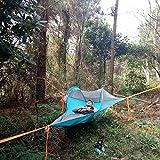 Hamacs, Personne Seule randonnée randonnée Arbre Tente Camping en Plein air Arbre hamac lit ultraléger Multifonctionnel Trois Arbres lit Suspendu Confortable