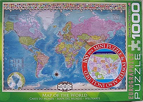 EuroGraphics Map of the World 1000 Piece Jigsaw Puzzle by EuroGraphics