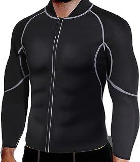 Men's Sweat Neoprene Long Sleeves Sauna Suit Slimming Fitness Jacket Fat Burner Workout Sweatshirts for Weight Loss