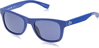 Lacoste Sunglass for Unisex,Lacoste Unisex Rectangular Blue Plastic Sunglasses - L790S 424 52-20-140mm