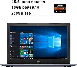 2019 Premium Dell Inspiron 15 5000?15.6 Inch HD Laptop (AMD Ryzen 5 2500U up to 3.6 GHz, 16GB RAM, 256GB SSD, WiFi, Bluetooth, HDMI, Windows 10 Home,?Racon Blue)