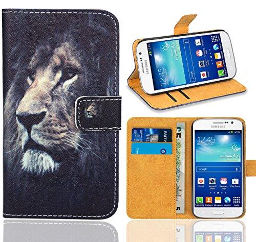 Samsung Galaxy Grand Neo/Grand Neo Plus Handy Tasche, FoneExpert® Wallet Hülle Flip Cover Hüllen Etui Ledertasche Lederhülle Premium Schutzhülle für Samsung Galaxy Grand Neo/Grand Neo Plus (Pattern 4)