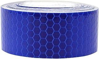 Maiqiken 1 Rolle Reflektor Streifen Blau Selbstklebende Für Auto LKW Anhänger Sicherheit Warnung Reflektorband Tape Aufkleber 5CM x 3M