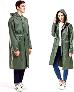 Oversize Reflective Windbreaker Waterproof Raincoat with Hoods and Sleeves Thicken Durable Breathable Ponchos for Men Women Teens (XXL, Army green)