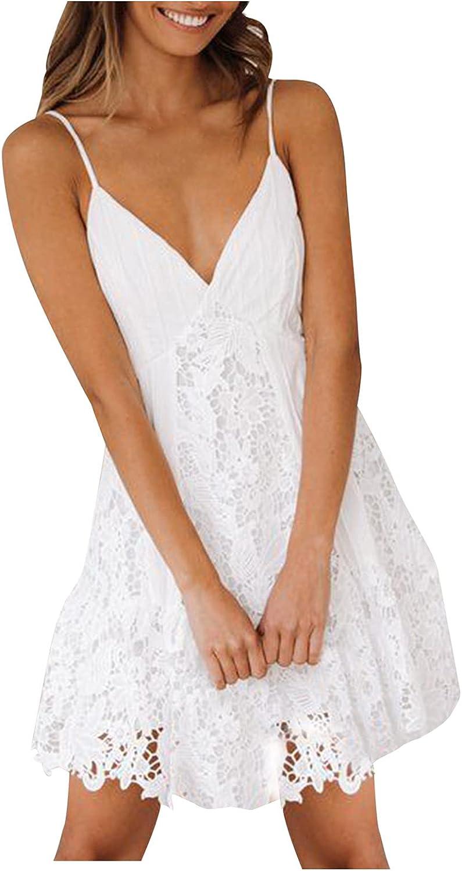 Sun Dresses Womens Spaghetti Strap Mini Weddin Ranking TOP3 Prom v-Neck Short Louisville-Jefferson County Mall