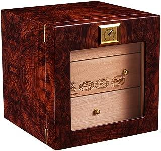 GYZ Natural Mellow Cedar Solid Wood Piano Paint Cigar Cabinet humidifier Smoke Box Cigar humidor /+-+/ (Design : A)