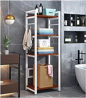 KOKOF Étagère de rangement WC WC de salle de bain balcon étagère de rangement multi-couches armoire de toilettes de type p...