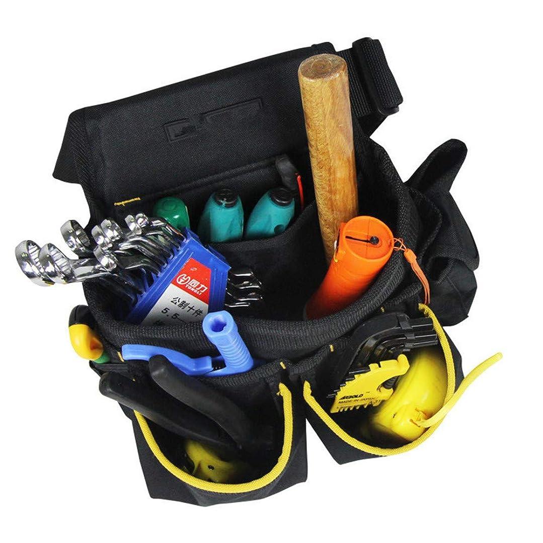 しょっぱいメッセンジャー黒ガーデンバッグ 多機能ポケットカスタムキット電気キットキット修理キットウエストパック 大型庭用袋