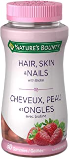 Nature's Bounty Hair, Skin And Nails Gummies With Biotin, 80 Count