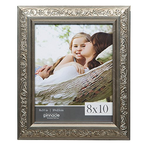 Pinnacle Frames and Accents 8x10 Antique Champagne Ornate Tabletop or Wall Frame