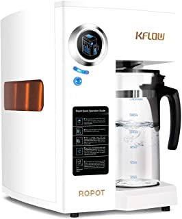 KFLOW Countertop RO Water Filter, Reverse Osmosis Water Filter System, Tankless Water Purifier with Precise 4-Stage Multi Filtration Tech and Filter Life Monitor, Zero Installation (KFL-ROPOT-180)