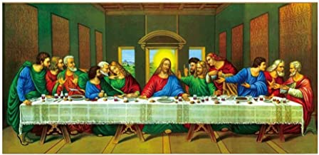 YIXIN The Last Supper 5D DIY Diamond Painting,Diamond Cross Stitch Rhinestone Painting, Paint by Number Home Decor Craft A...