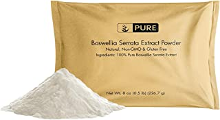 100% Pure Boswellia Serrata Extract Powder, 8 oz, � TSP Serving, Natural, Non-GMO, Gluten-Free, Fine Ground, High Quality, No Fillers, No Additives, Eco-Friendly Packaging