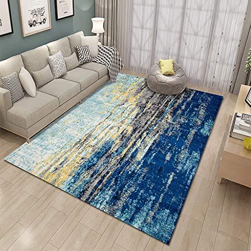 XYGB Alfombra para sala de estar, diseño 3D, no destiñe, antideslizante, sin formaldehído, lavable a máquina, dormitorio comedor, alfombra suave para sala de estar, alfombra para niños E-200 x 300 cm
