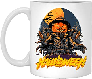 Happy Scary Halloween Party Mannequins Pumpkin Head Gift Coffee Mug White 11oz