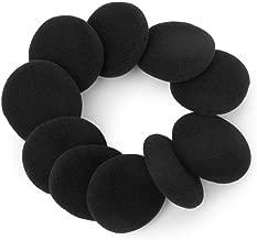 WINOMO Foam Ear Pad Covers for 40mm Headset Earphones 10pcs (Black)