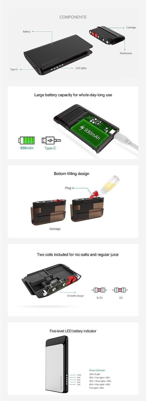 Kit de sistema Suorin Air Plus Pod: sin nicotina (Azul Diamante) : Amazon.es: Salud y cuidado personal