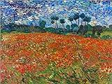 Poster 70 x 50 cm: Mohnfeld, Auvers-sur-Oise von Vincent
