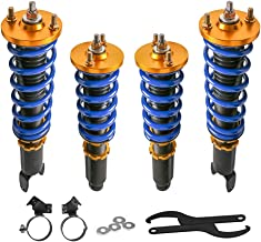 MOSTPLUS Adjustable Height Coilovers Struts for Honda Civic EK EJ EF EG 1988-2000 Coil Spring Over Shock Front Rear (Set of 4)
