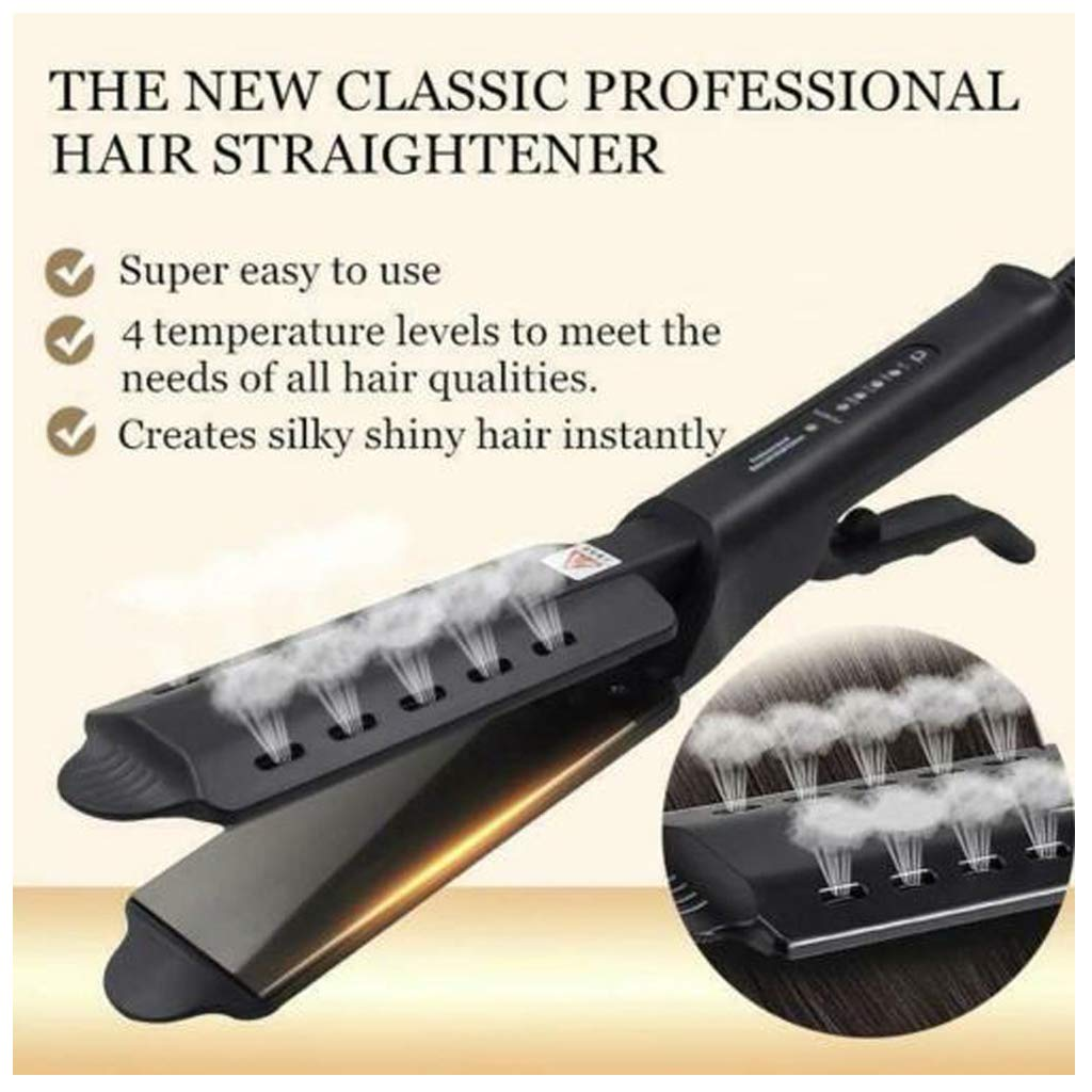 Flurries Hair Straightener Steam Built