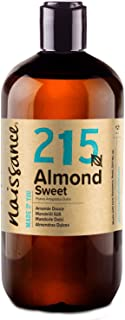 Naissance Aceite de Almendras Dulces n. º 215 – 500ml - 100% natural para humectar y equilibrar la piel, hidratar el cabello y todo el cuerpo.