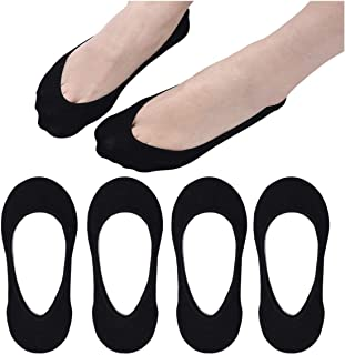 No Show Women Ankle Socks Ultra Low Cut Non Slip Liner Women Socks Invisible for High heels Flats Boat Summer and Ballerina