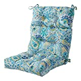 Greendale Home Fashions AZ4809-BALTIC Paisley 44'' x 22'' Outdoor Seat/Back Chair Cushion