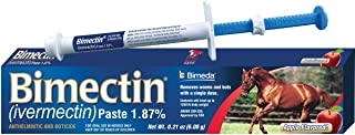 Bimectin Ivermectin Paste Horse Wormer (1.87 Ivermectin) Single dose