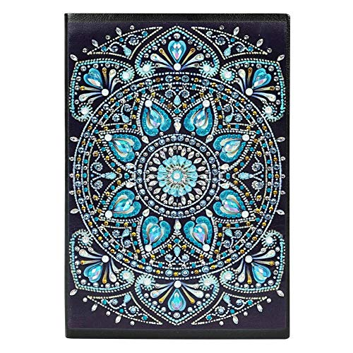 Diamond Painting Cover Notebook Joural for Journaling Writing Note Taking Diary and Planner,A5 DIY Diamond Painting 60 Pages Notebook Diary Book Christmas Birthdays Gifts Ideas-Mandala 2