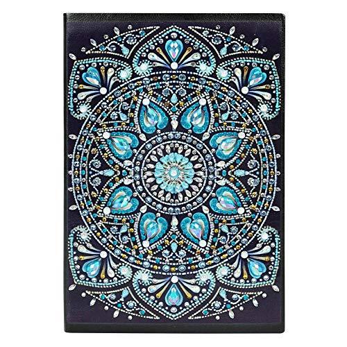 DIY Diamond Painting Journal Notebook Art Sketchbook Regalo de cumpleaños para niños Regalo del día de los niños Libro de 60 páginas A5 Children's Day Mandala Painting Sketchbook