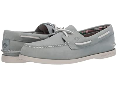 Sperry A/O 2-Eye Plushwave Washable (Green) Men