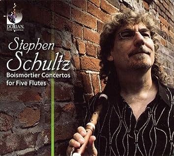 Schultz, Stephen: Boismortier Concertos for 5 Flutes