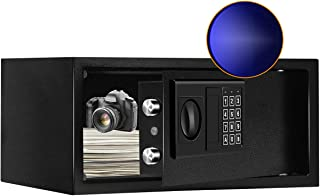 JUGREAT Security Safe Box with Sensor Light,0.7 Cubic Feet Electronic Digital Securit Safe Steel Construction Hidden with ...