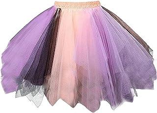 Lazzboy Donnas tutù Gonna Tulle Mix Colorful Petticoat Balletto Danza Organza Formato 36-48