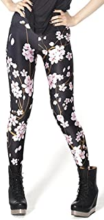 Women's Digital Print Cosmic Galaxy Stretch Stretchy Ankle Leggings Fabric Upgrade