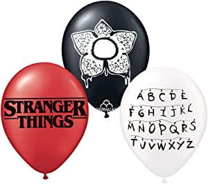 12 inch stranger things latex balloons ,stranger things birthday party supplies (12ct)