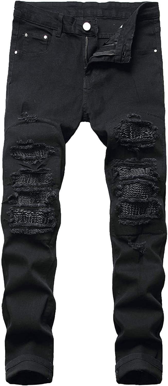 Beastle Men's New life Jeans European Max 56% OFF and Personality Sli Ripped American