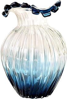 Vase Vase Verre Vase en Relief De Bouche De Fleur De Dégradé,décoration De Bouteille De Fleur De Salle De Modèle De Club H...