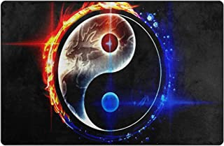 Area Rug Soft Chinese Dragon Tai Bagua Yin Yang 3D Carpet Bedroom Solid Home Decorator Floor Carpets 60 x 39 Inch