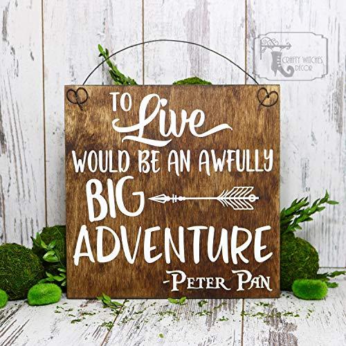Thomas655 om te leven zou een vreselijk groot avontuur teken kwekerij tekenen babykamer Decor Peter Pan tekenen kwekerij Decor