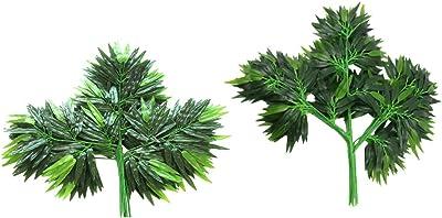 Homcomodar 6Pc Plantes vertes succulentes artificielles Non en pot Faux Fleurs Faux Succulentes