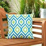 Gardenista Cojín Relleno Resistente al Agua y para Exteriores | Diseño con Patrones Coloridos | Accesorio para Muebles de Jardín| Almohadas Decorativas de | 45 x 45 cm (6 Piezas, Aqua/Lime)