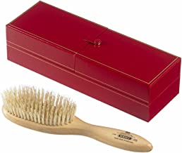 Kent Brushes Handmade Satin Wood Oval Bristle Hairbrush White