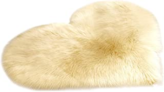 Love Heart Area Rugs Fluffy Home Faux Fur Rug Wool Sheepskin Plush Soft Shaggy Carpets for Living Room Modern