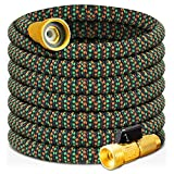 YUITCE Latest Garden Hose Expanding Lightweight No Kink 60ft Water Hose,Expandable from 19.9FT-60FT,with 4 Layers of Flexible Latex,Leakproof,Explosion Proof, 3/4 Anti-Rust 99% Brass Valve core